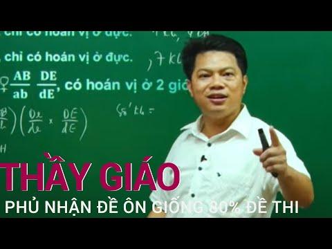 Thầy giáo Hà Tĩnh lên tiếng phủ nhận đề ôn giống 80% đề thi THPT 2021