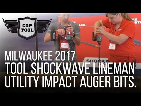 Milwaukee Tool Shockwave Lineman Utility Impact Auger Bits