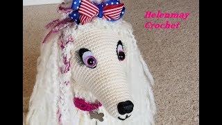 Crochet Large Amigurumi Afghan Dog Part 2 of 3 DIY Video Tutorial