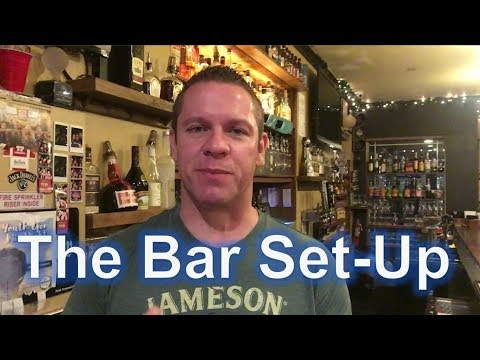 Become A Bartender - The Bar Set-Up