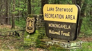 Camping at Lake Sheŗwood Recreation Area, Monongahela NF, WV