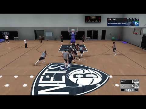 NBA 2k18 Gameplay - Working Out With The Brooklyn Nets Starters ( The Prelude )