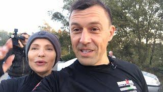 Юлия Тимошенко и Андрей Онистрат - утренняя пробежка 12 км -  тренировка и интервью.- Украина