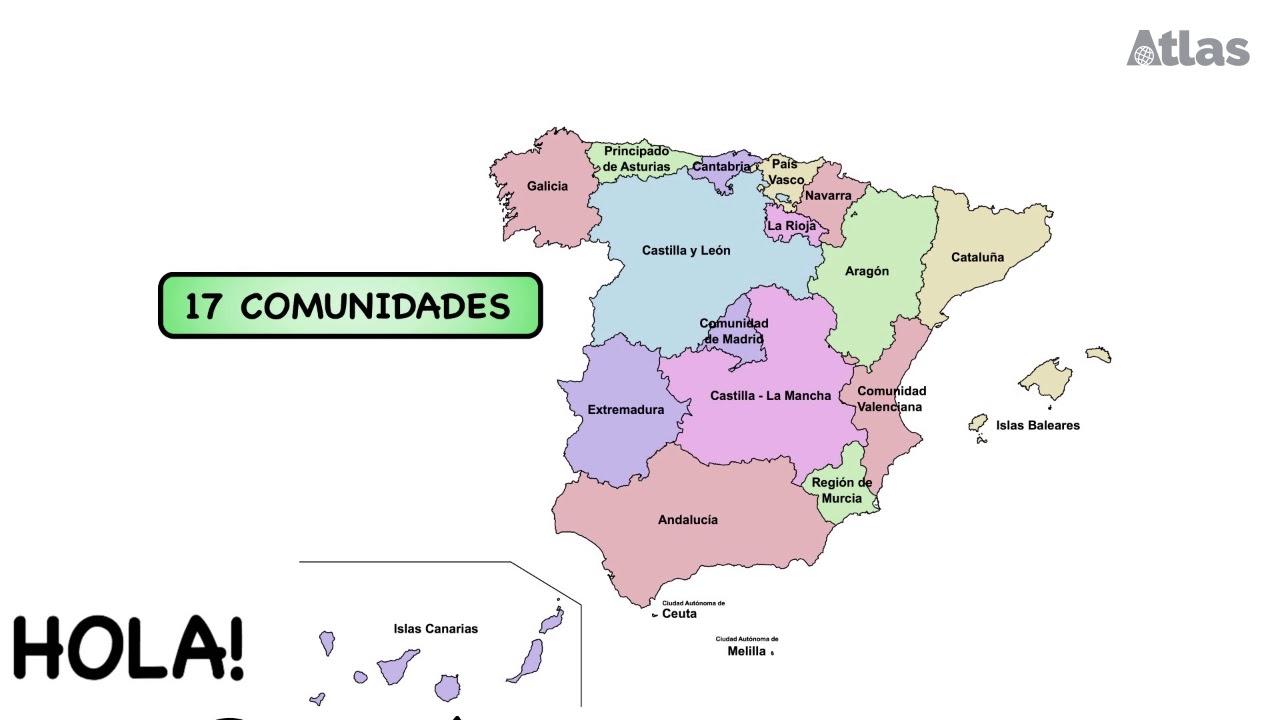 Cartina Rilievi Spagna.Le Caratteristiche Della Spagna Youtube