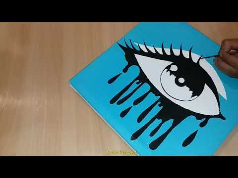 How to draw Realistic Eye | Easy for Beginners| Acrylic Painting| Eye Art on Canvas