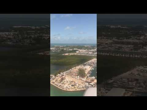 Above Key West and the Florida Keys. 24 April 2017. Amazing view.