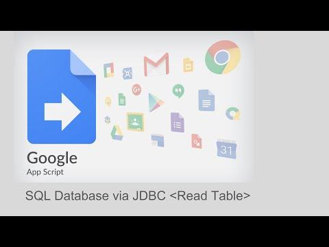 Google Apps Script - MySQL Database via JDBC
