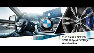 2017 BMW 520D M Package Accelelation + 비엠떠블유 520D 가속력