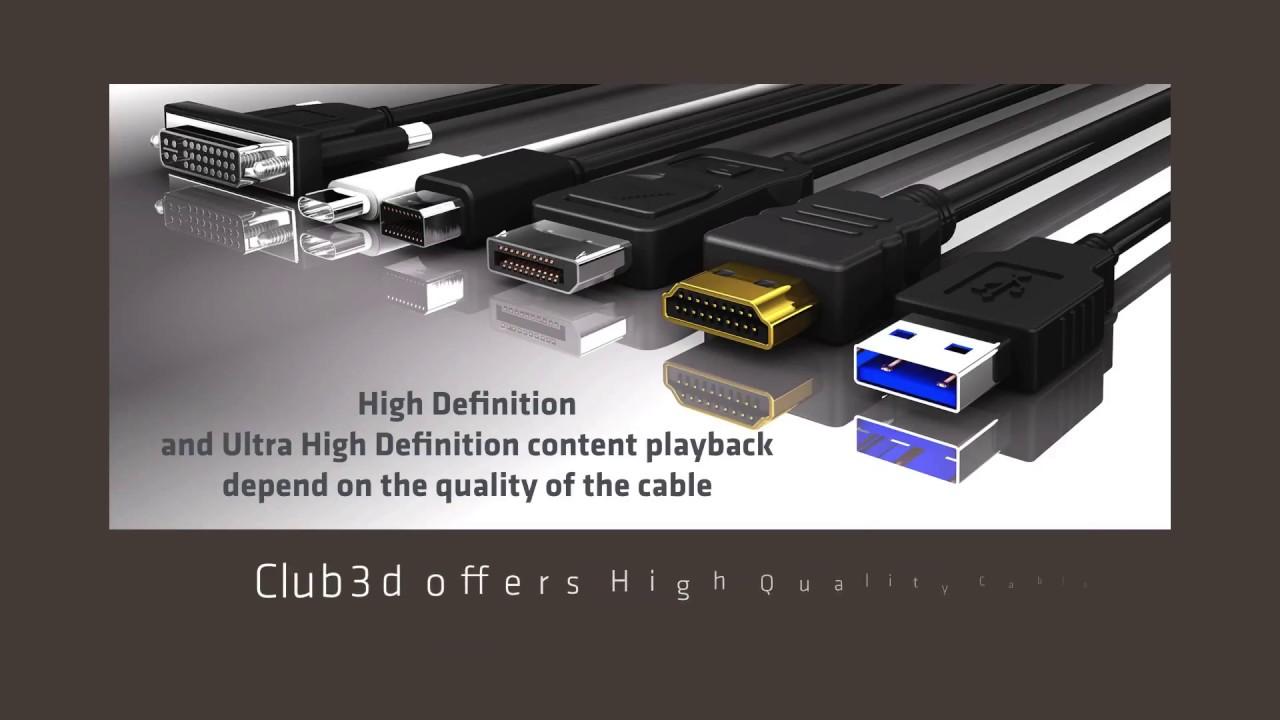 DisplayPort 1 4 HBR3 8K Cable / HDMI TRUE 4K