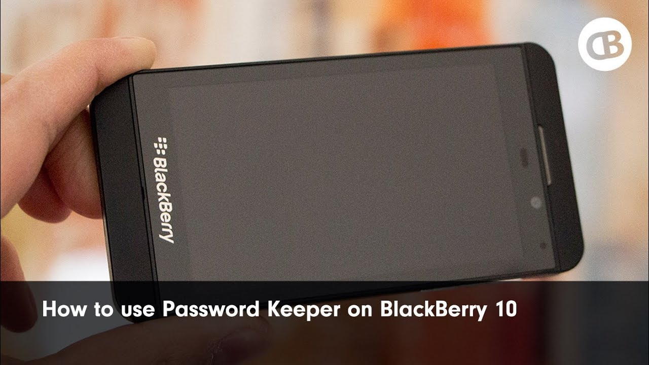 How to use Password Keeper on the BlackBerry Z10