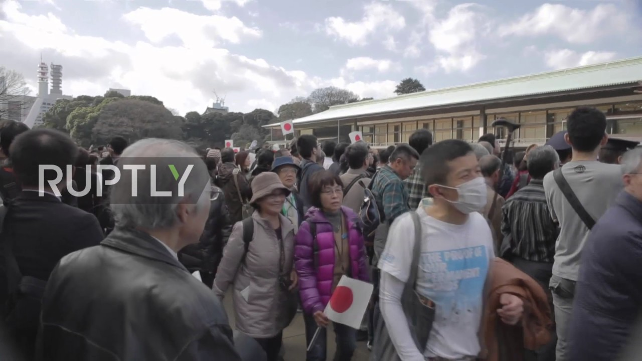 Japan thousands gather at imperial palace to greet emperor on his japan thousands gather at imperial palace to greet emperor on his 83 birthday m4hsunfo