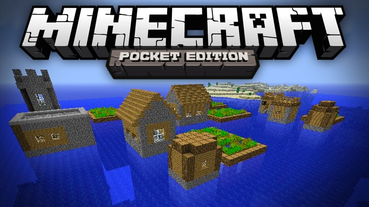 OCEAN VILLAGE SEED - Village in the Middle of the Ocean - Minecraft Pocket  Edition