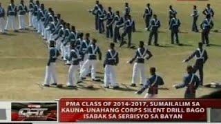PMA class of 2014-2017, sumailalim sa kauna-unahang corps silent drill