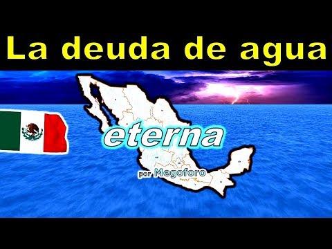 la deuda de agua eterna de Mexico a EEUU