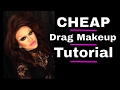 CHEAP Drag Makeup Tutorial (All Walmart Products)