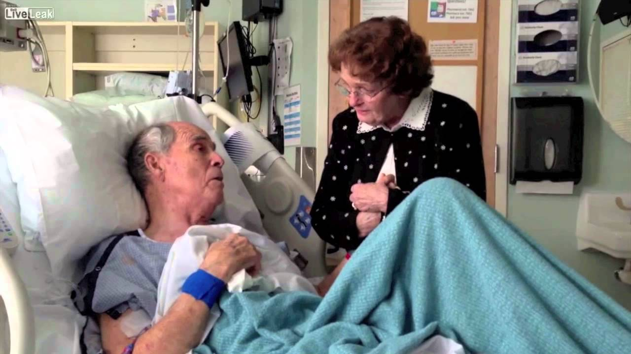 VIDEO: Dying old man sings a duet with wife of 66 years