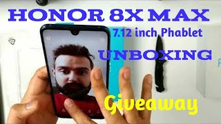 Honor 8x Max Unboxing with PUBG, Antutu Benchmark and Giveaway
