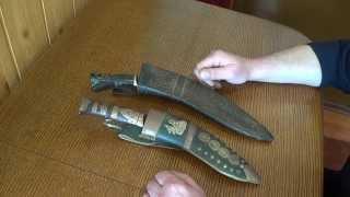 старинные непальские кукри-анализ и сравнение ножей.