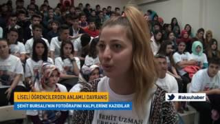 K.Maraş'lı Öğrenciler Şehidini Unutmadı