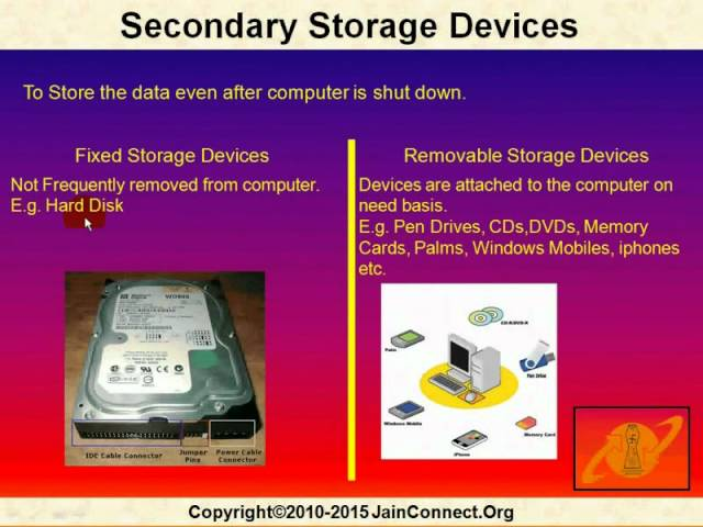 name of secondary storage devices