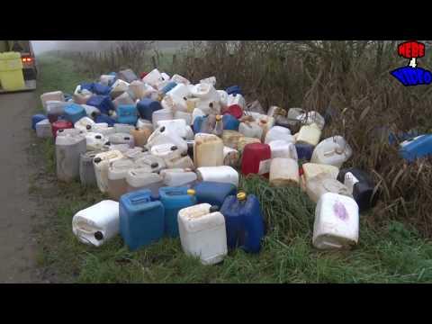 5000 Liter XTC Afval in bos bij Culemborg