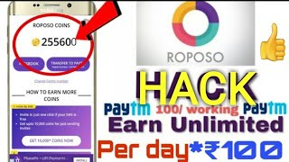 (Roposo ha©k trick)😀 unlimited trick earn paytm cash by micro tech