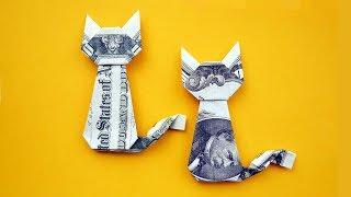 EASY Money CAT | Origami Dollar Gift Idea | Animal Tutorial DIY