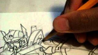 How to draw ROTF OPTIMUS PRIME Transformers Animated style part 3C