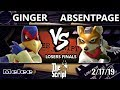 Download mp3 The Script 2 - AbsentPage (Fox) Vs. Ginger (Falco) - Smash Melee Losers Finals for free