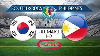 AFC U-16 Championship Qualifiers 2018 South Korea VS Philippines (Full Match)
