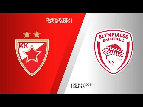 Crvena Zvezda mts Belgrade - Olympiacos Piraeus Highlights | EuroLeague, RS Round 13