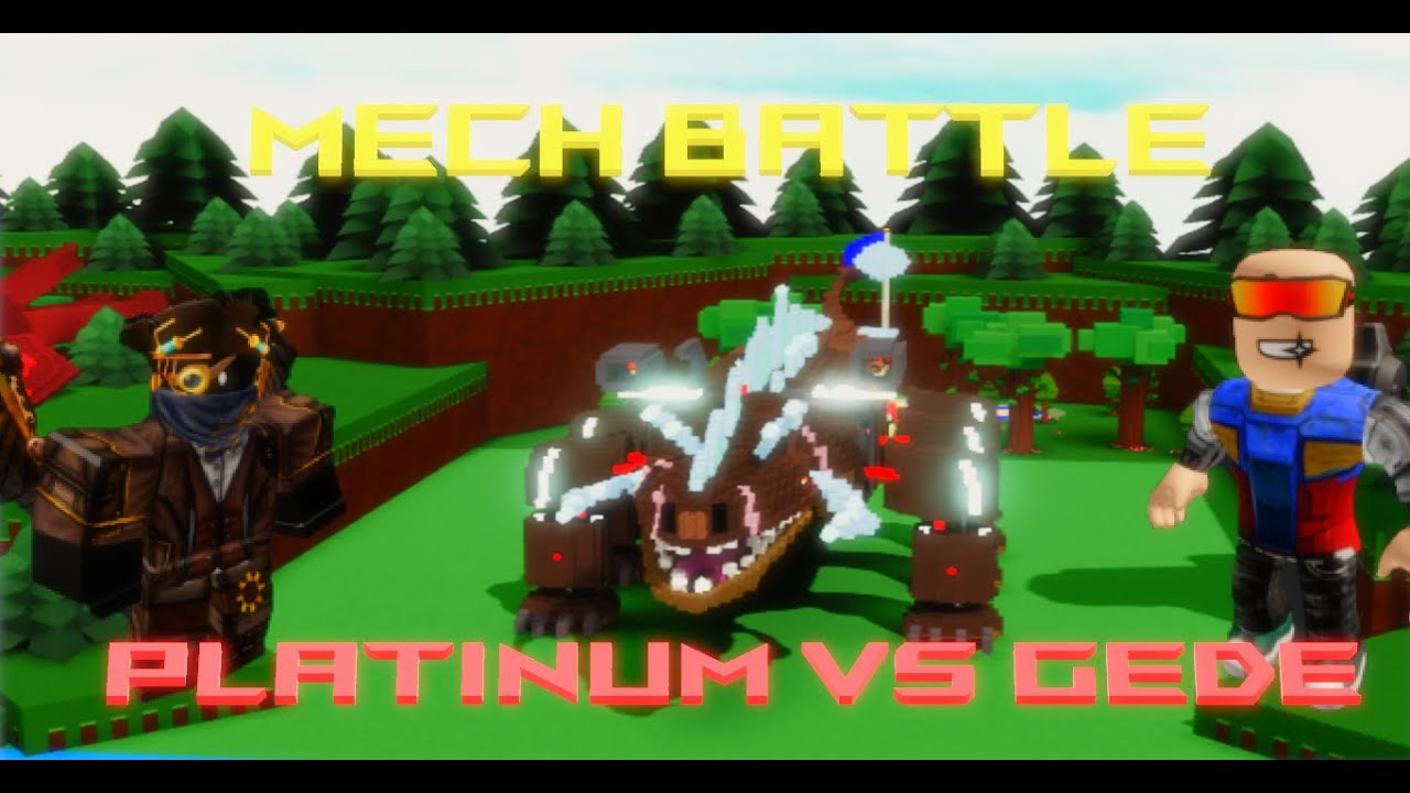 Download PLATINUM Vs. GEDE! (Awesome Mech Battle) Roblox Build a Boat