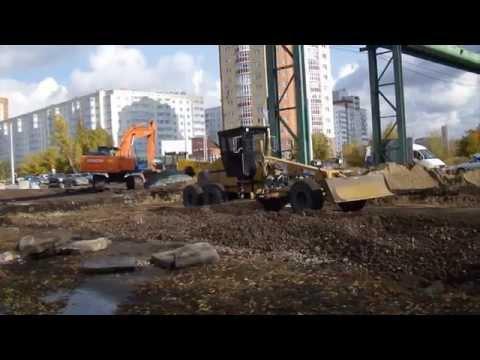 Реконструкция перекрестка Заозёрная-Королёва, октябрь 2014, Омск