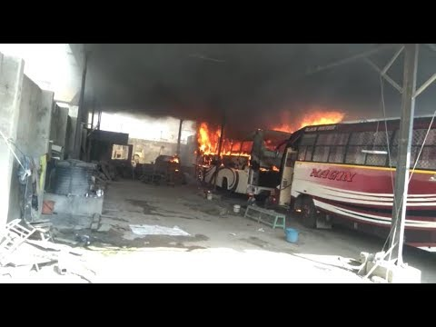 Parked bus catches fire in Rajkot, no casualty reported so far- Tv9