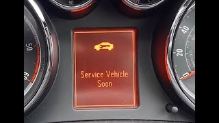 Vauxhall Insignia Service Vehicle Soon Message