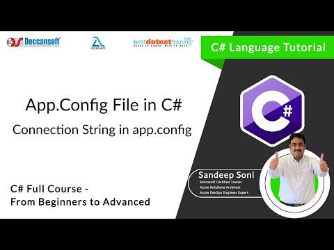 App.Config Configuration in C# - C# tutorial YouTube