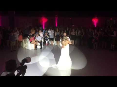Saskatoon Wedding DJ   1st Dance Lighting Bride & Groom   Armed With Harmony