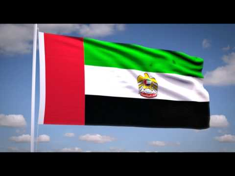 "National Anthem of the UAE (""عيشي بلادي"") Flag of the President of the United Arab Emirates"