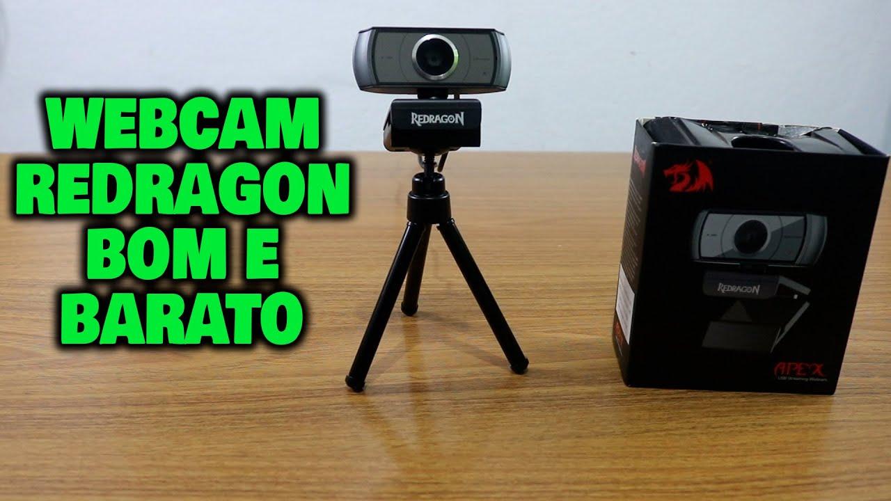 A MELHOR CAMERA WEBCAM CUSTO BENEFICIO! REDRAGON GW900 1080p FULL HD AUTO FOCUS