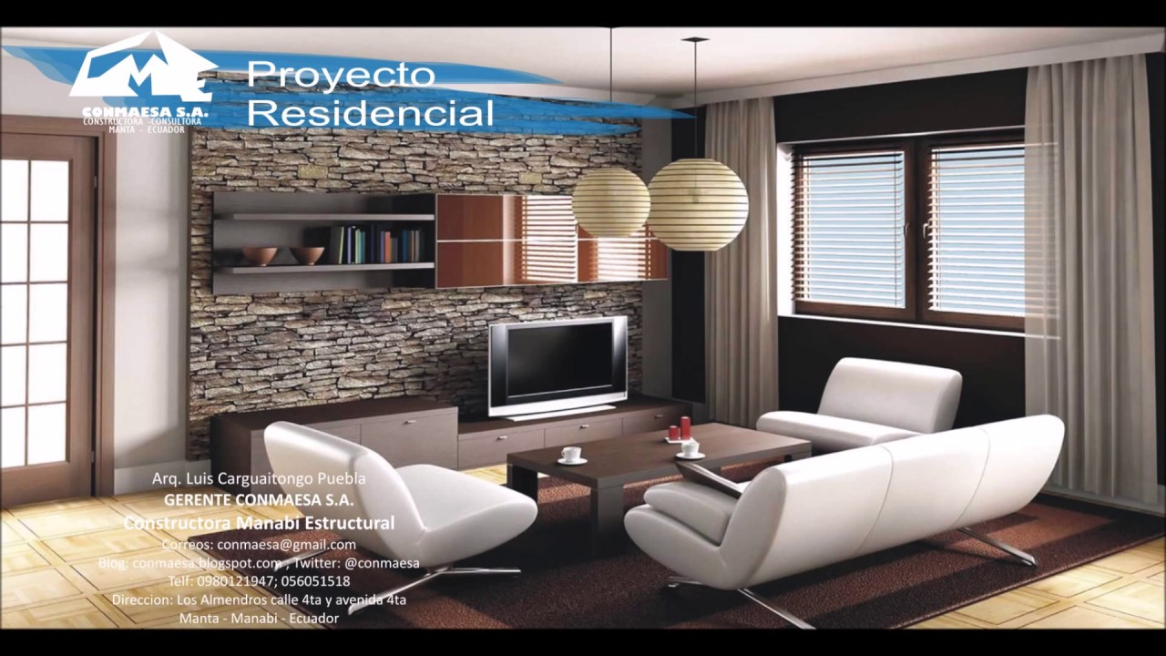 Dise o de interiores salas youtube for Decoracion de interiores salas modernas