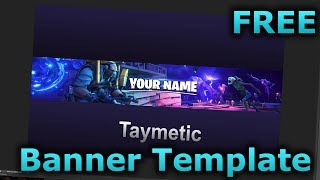 FORTNITE BANNER TEMPLATE #1 - Free Download | Photoshop CC & CS6