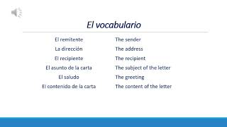 EDSU 534 Flipped Claṡsroom Video - Letter writing in Spanish