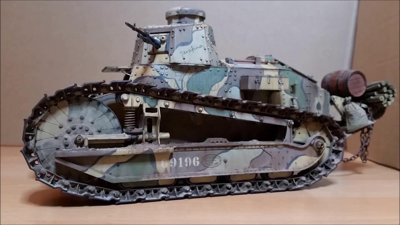 1 16 Ww1 Renault Ft 17 Rc Tank Model Youtube