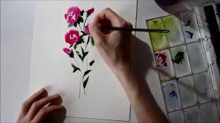 Акварель цветы (3)