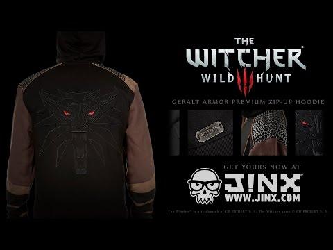 The Witcher 3 Geralt Armor Premium Zip-up Hoodie from J!NX