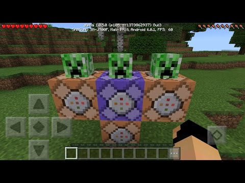 BEST COMMAND BLOCK CREATIONS in Minecraft Pocket Edition 1.0.5!!!