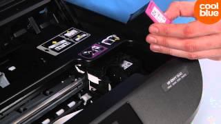 Hoe vervang ik de cartridges van de HP Envy 5640