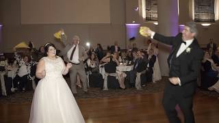 Bride & Father Dance Cheers on The Pittsburgh Penguins
