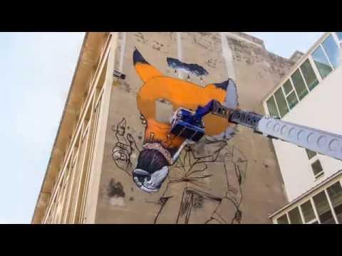 Time lapse Veks Van Hillik - Festival street art Grenoble
