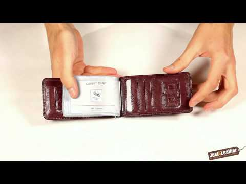 ART93 Burgundy Designer Leather Credit Card Business Card Holder
